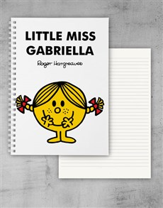 gifts: Personalised Little Miss Sunshine Notebook!