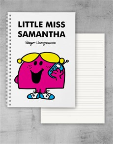 gifts: Personalised Little Miss Chatterbox Notebook!