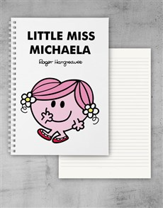 gifts: Personalised Little Miss Hug Notebook!