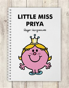 gifts: Personalised Little Miss Princess Notebook!