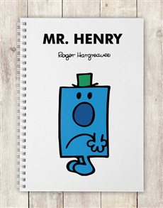 gifts: Personalised Mr Grumpy Notebook!