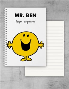 gifts: Personalised Mr Happy Notebook!