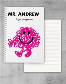 gifts: Personalised Mr Messy Notebook!