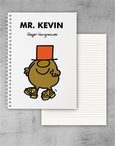 gifts: Personalised Mr Silly Notebook!