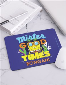 gifts: Personalised Good Times SpongeBob Mousepad!