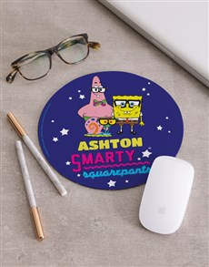 gifts: Personalised Smarty SpongeBob Mousepad!