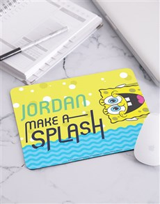 gifts: Personalised SpongeBob Make A Splash Mousepad!