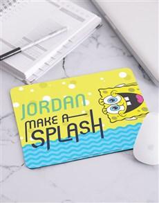 gifts: Personalised SpongeBob Make A Splash Mousepad!