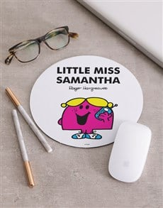 gifts: Personalised Little Miss Pink Mousepad!