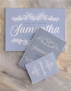 gifts: Personalised Chic Meal Planner Set!