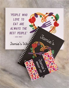 gifts: Personalised Love To Eat Meal Planner Set!