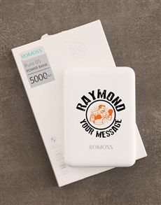 gifts: Personalised Boxing Romoss Power Bank!
