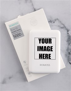 gifts: Personalised Image Romoss Power Bank!