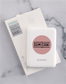 gifts: Personalised Pink Dot Romoss Power Bank!