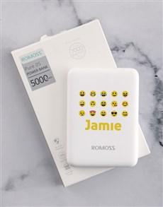 gifts: Personalised Emoji Romoss Power Bank!