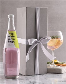 gifts: Personalised Happiness Gin And Tonic!