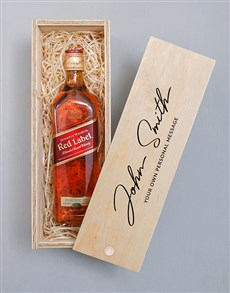gifts: Personalised Johnnie Walker Red Signature Crate!