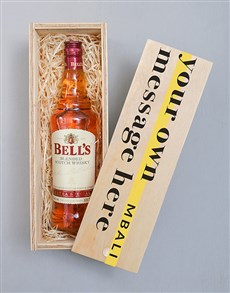 gifts: Personalised Bells Whiskey Wooden Crate!