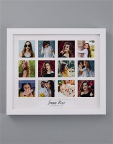 gifts: Personalised Name and Date Multi Photo Frame!
