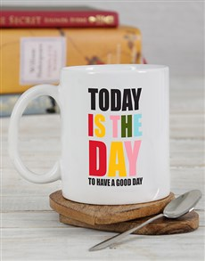 gifts: Personalised Today Is The Day Mug!