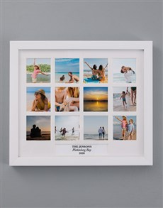 gifts: Personalised Family Holiday Multi Photo Frame!