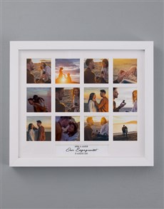 gifts: Personalised Our Engagement Multi Photo Frame!