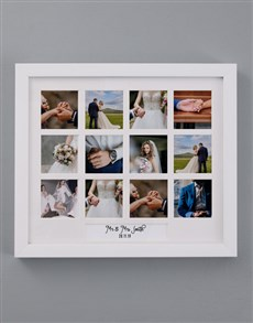 gifts: Personalised Mr and Mrs Multi Photo Frame!