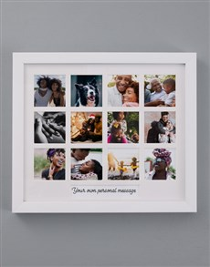 gifts: Personalised Message Multi Photo Frame!