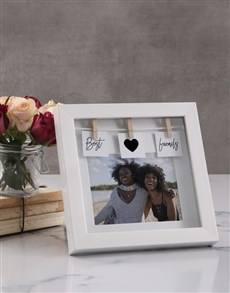 gifts: Personalised Best Friends Peg Photo Frame!