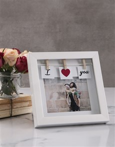 gifts: Personalised I Heart You Peg Photo Frame!