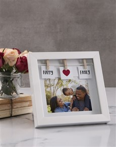 gifts: Personalised Happy Family Peg Photo Frame !