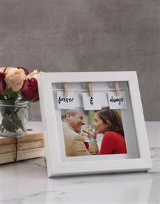 gifts: Personalised Forever and Always Peg Photo Frame!