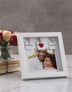 gifts: Personalised Together Forever Peg Photo Frame!