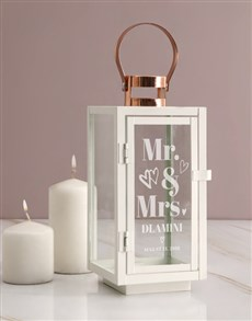 gifts: Personalised Mr and Mrs Lantern!