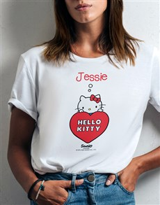 gifts: Personalised Hello Kitty Heart T Shirt!