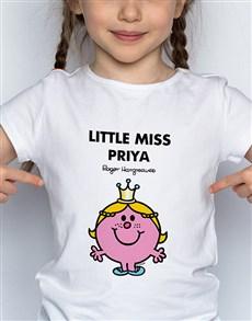gifts: Personalised Miss Princess Kids T Shirt!