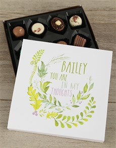 gifts: Personalised Good Luck Choc Tray!