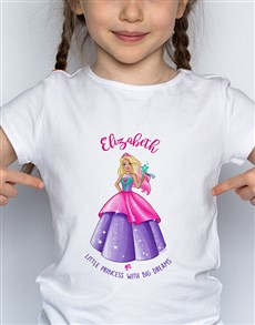 gifts: Personalised Little Princess Barbie T Shirt!