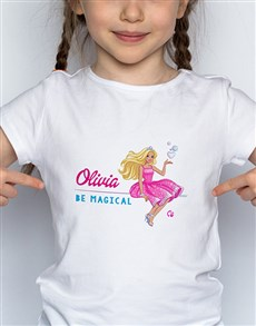 gifts: Personalised Be Magical Barbie T Shirt!