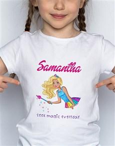 gifts: Personalised Seek Magic Kids T Shirt!