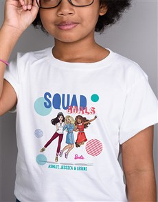 gifts: Personalised Squad Goals Barbie T Shirt !