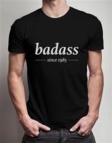 gifts: Personalised Badass Year T Shirt!
