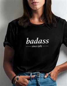 gifts: Personalised Badass Ladies T Shirt!