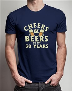gifts: Personalised Cheers and Beers T Shirt!