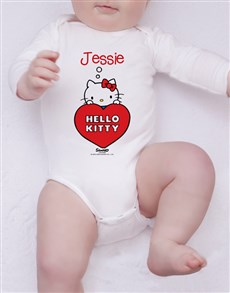 gifts: Personalised Hello Kitty Onesie!