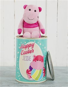 gifts: Personalised Easter Hippo Teddy Tin!