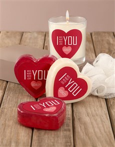 gifts: Personalised I Love You Soap Hamper!