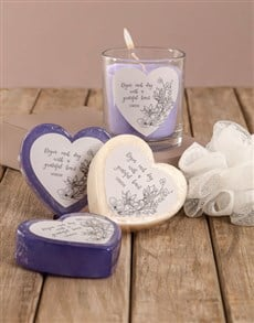 gifts: Personalised Grateful Heart Soap Hamper!
