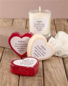 gifts: Personalised Love Yourself Soap Hamper!