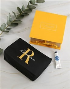 gifts: Personalised Loccitane Glitter Cosmetic Bag!